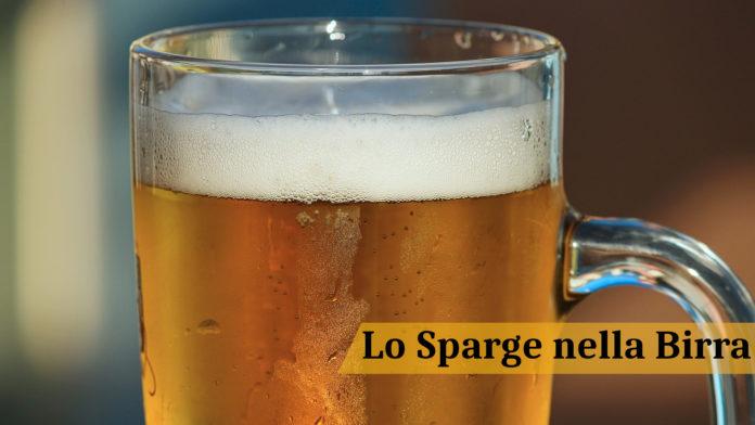 Lo sparge nella birra. Un passaggio tanto semplice quanto delicato!