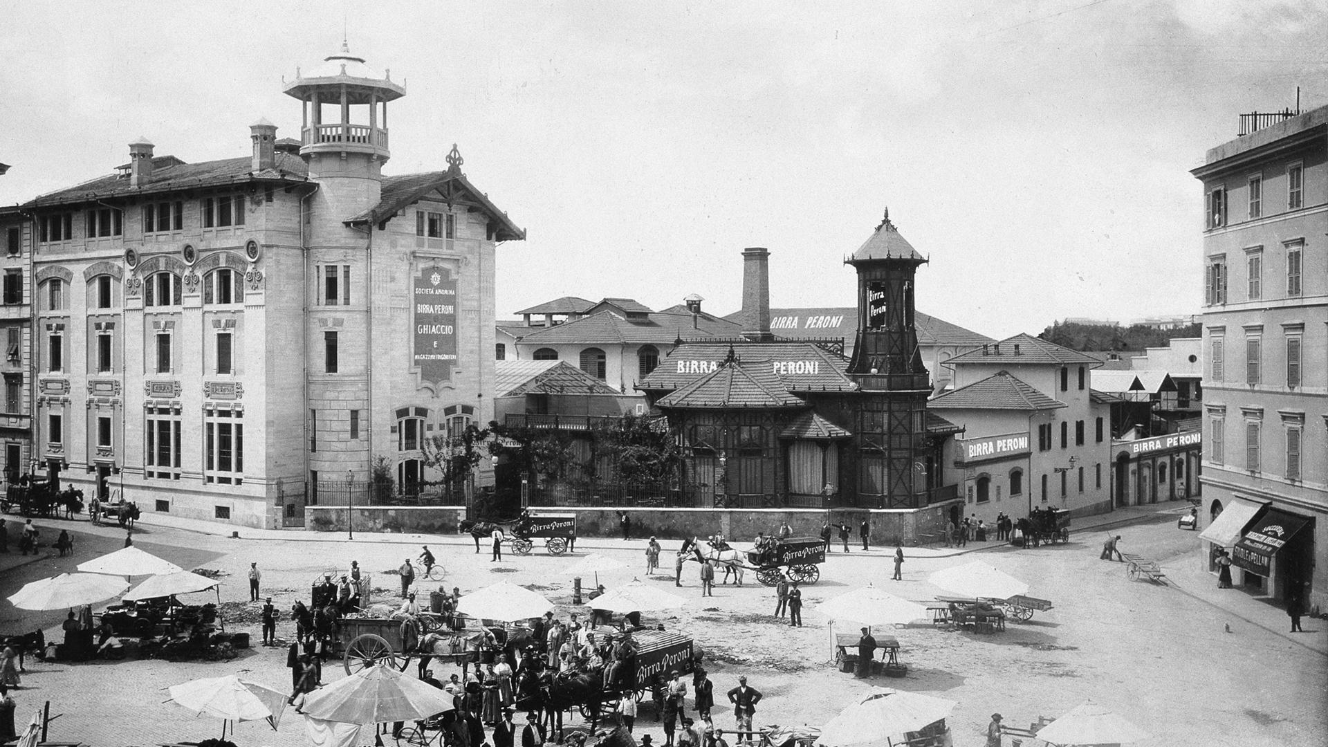 Piazza Alessandria Roma inizi 900