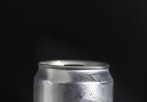 Lattina in alluminio, involucro per contenere la birra.
