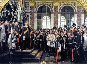 La proclamazione di Guglielmo I a imperatore di Germania