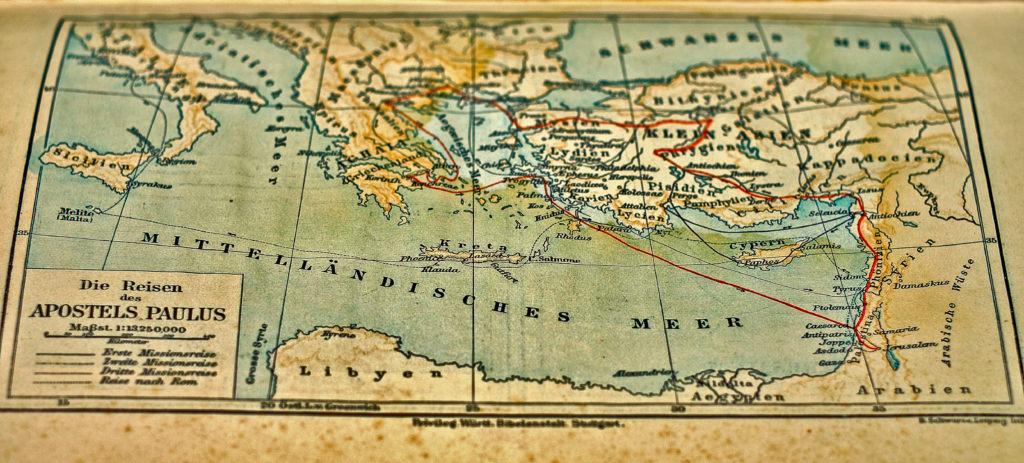Mappa del Mediterraneo