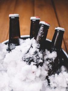 birra con ghiaccio