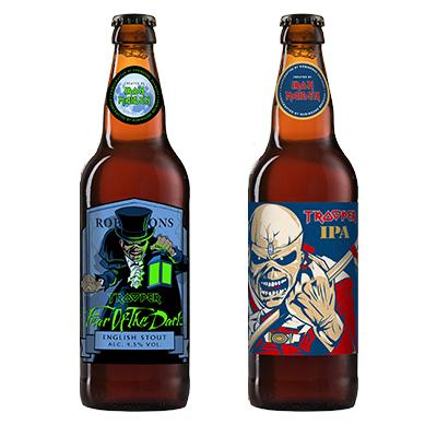 bottiglie di Trooper IPA e Fear Of The Dark