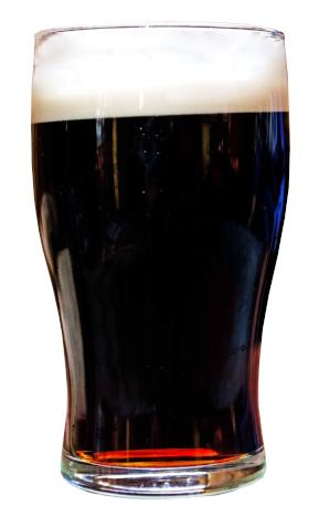 bicchiere di brown ale