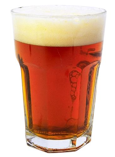 bicchiere di irish ale
