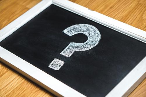 punto di domanda su lavagna