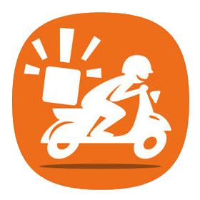 scooter di consegna a domicilio