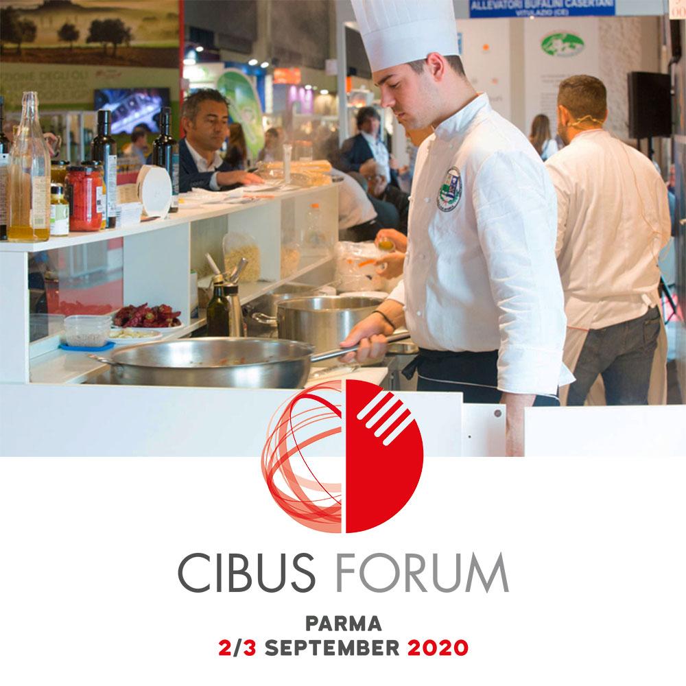 locandina Cibus Forum - food&beverage e Covid: dalla transizione alla trasformazione