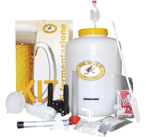 Kit di fermentazione con fermentatore a bocca stretta