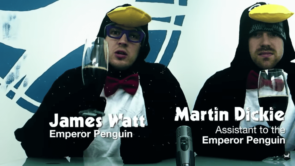james watt e martin dickie vestiti da pinguini