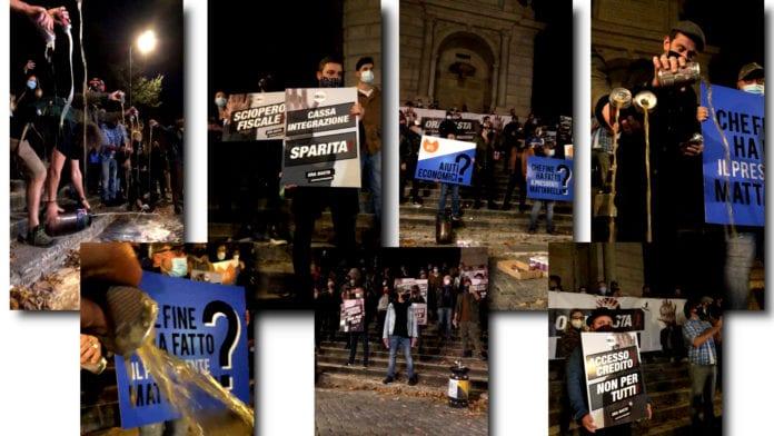 Roma: La birra inonda Piazza Trilussa al grido