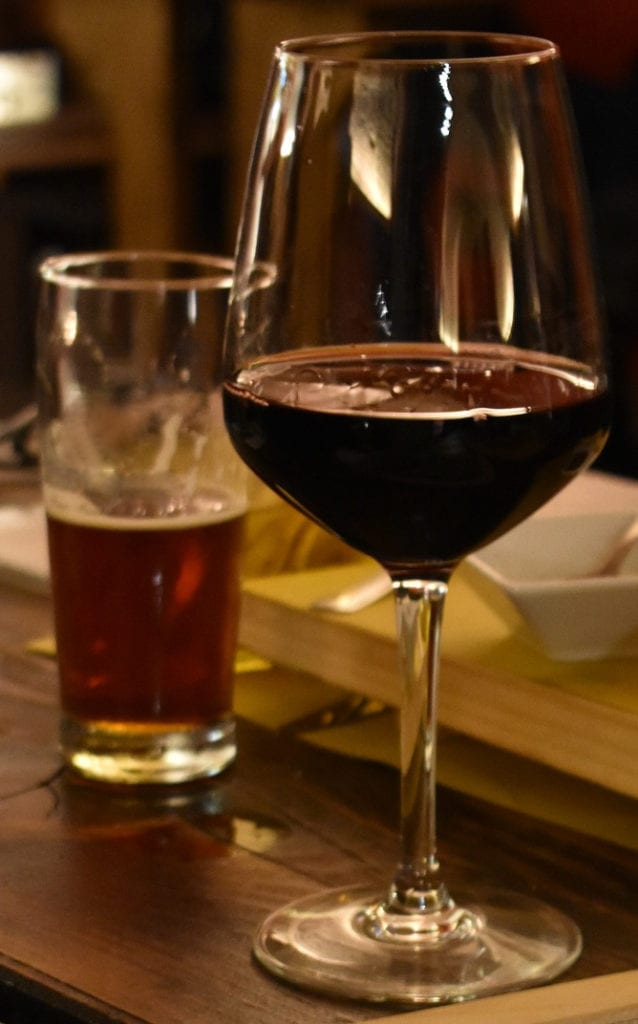Birra e vino rosso