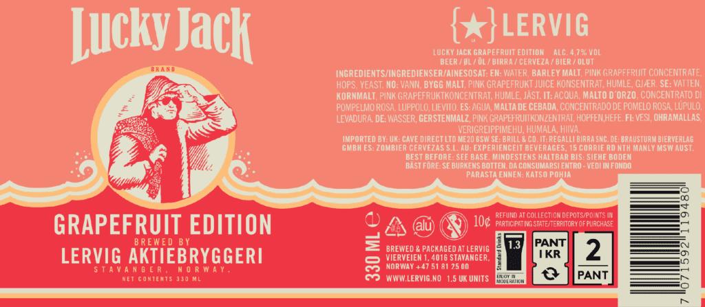 locandina Lucky Jack Grapefruit Edition