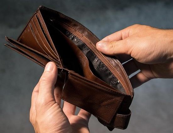 portafogli senza soldi