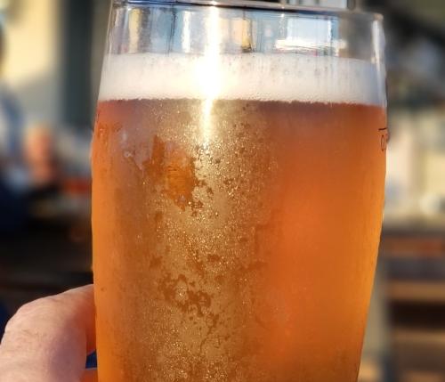 bicchiere con brina
