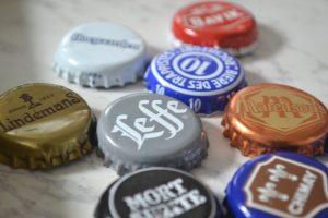 tappi di bottiglia di birra utilizzata per sapone