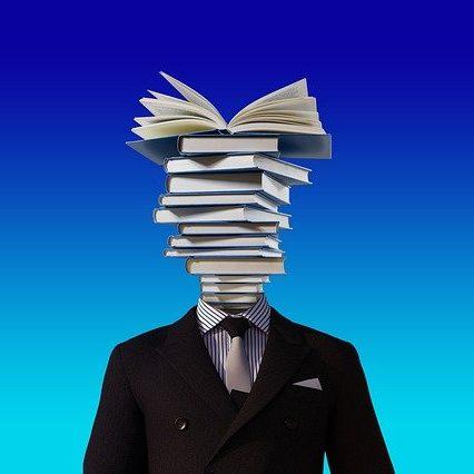 testa di libri