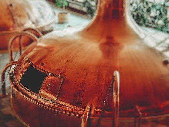 caldaia birrificio. Riproduce in scala la tecnica all grain nella produzione della birra artigianale