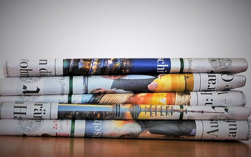 giornali ripiegati