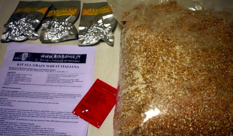 kit birra artigianale wheat italiana