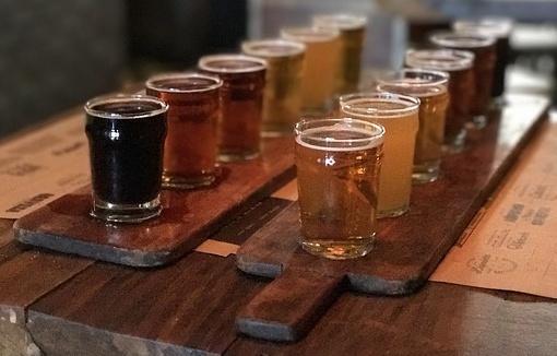 bicchieri di birra artigianale