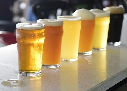 bicchieri di birra di diverso stile